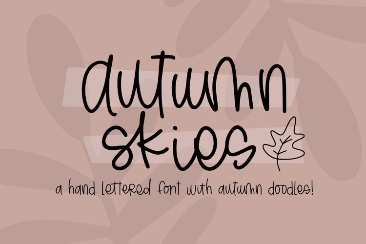 Autumn Skies Hand Lettered Font