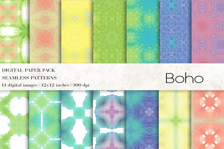 Boho Digital Papers, Boho Patterns example image 1