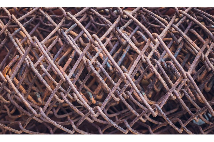 Rough old rusty steel wire example image 1