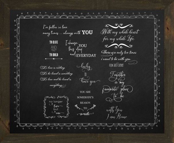 Love Quote Word Overlay