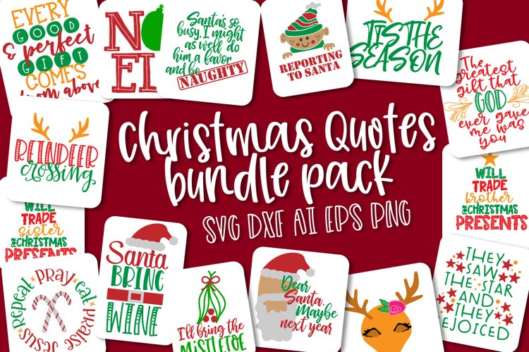 Christmas Bundle Pack - Quotes for Christmas example image 1