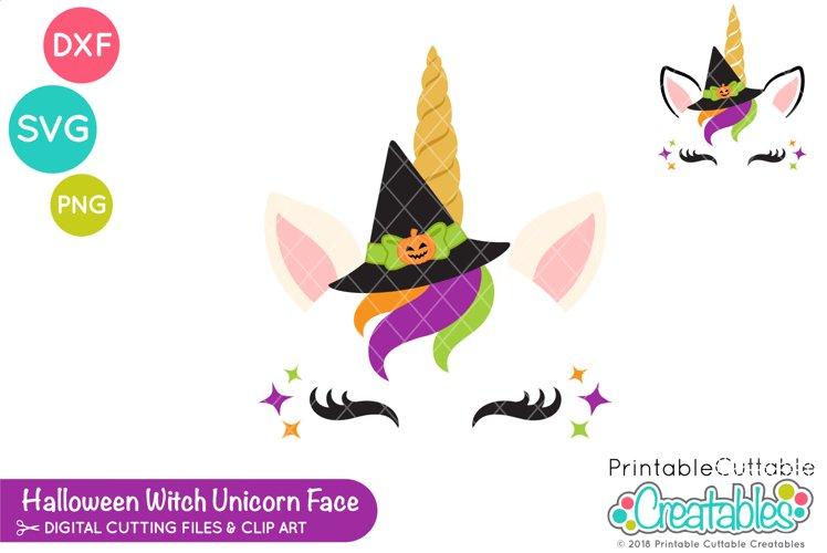 Witch Unicorn Eyelash Face SVG | Halloween SVG