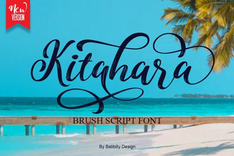 Kitahara - Handwriting Brush font example image 1