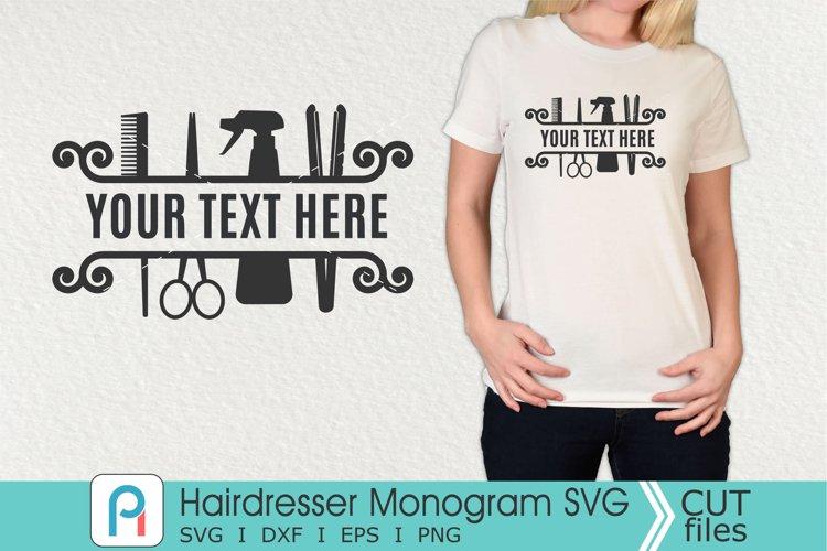 Download Hairdresser Monogram Svg Hairdresser Svg Hair Stylist Svg 288096 Cut Files Design Bundles