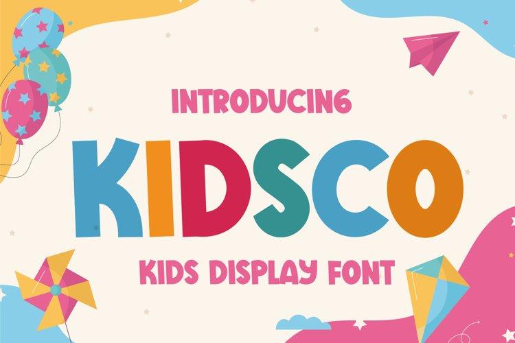 Kidsco - Cute Display Font example image 1