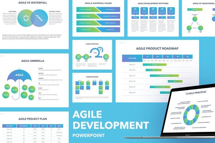 Agile Development PowerPoint Template example image 1