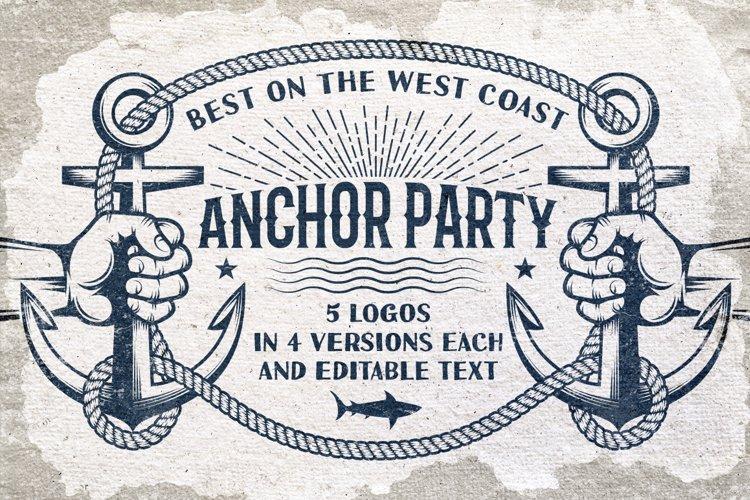 Anchor retro logo templates example image 1