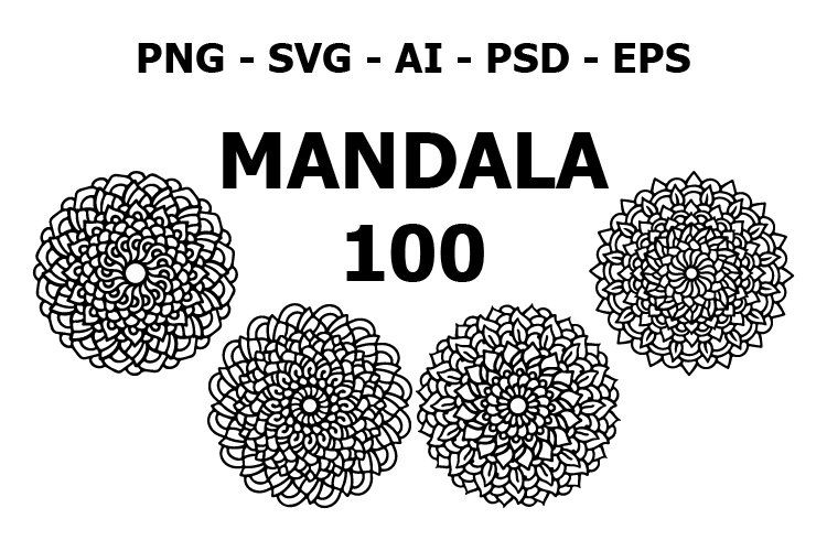 100 various mandala collections colorful. Roses example image 1