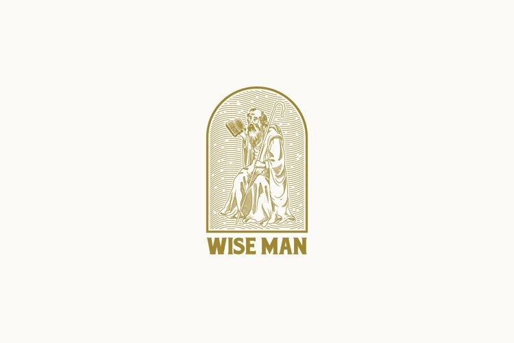 Wise Man Logo Template