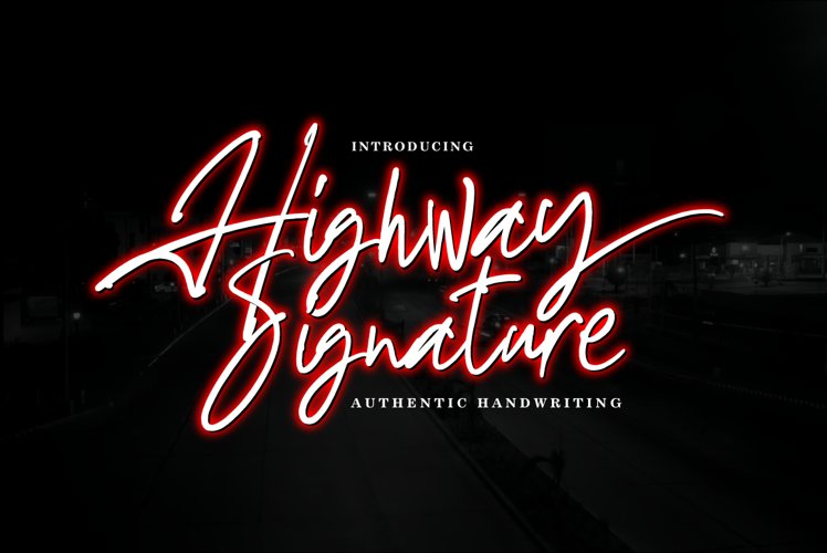 Highway Signature example image 1