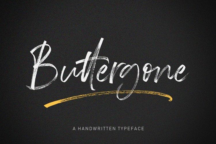 Buttergone Brush Font example image 1