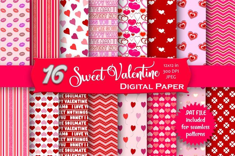 Pink Valentine Digital Paper Pack example image 1