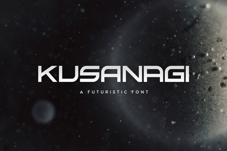 Kusanagi - Futuristic Font example image 1