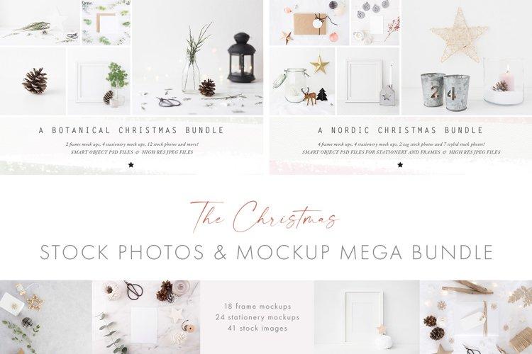 The Christmas mockup and photo Bundle