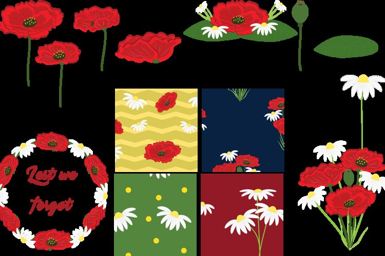 Poppies and Daisies example image 1