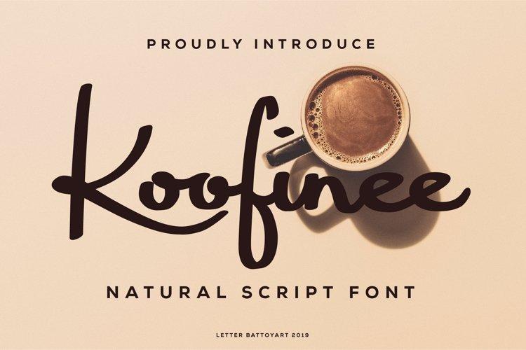 Koofinee Natural Script Font example image 1