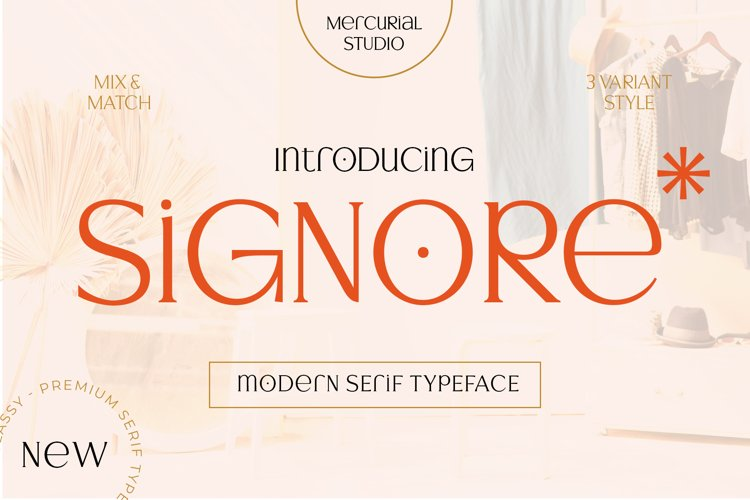 Signore - Serif Typeface example image 1
