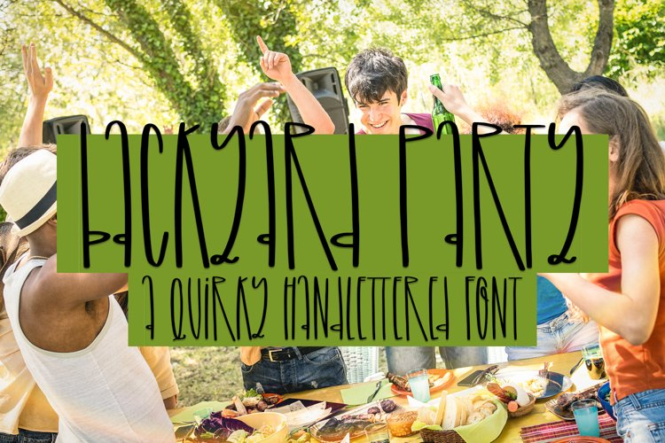 Backyard Party - A Quirky Handlettered Font example image 1