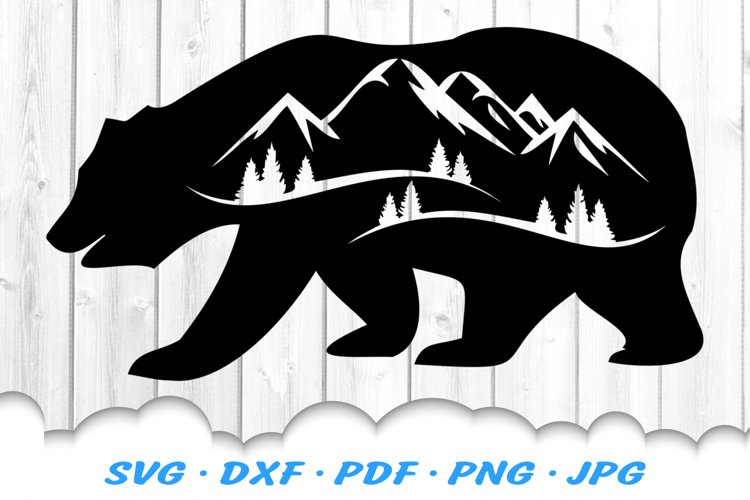 Bear Mountains Silhouette Svg Dxf Cut Files 414935 Illustrations Design Bundles