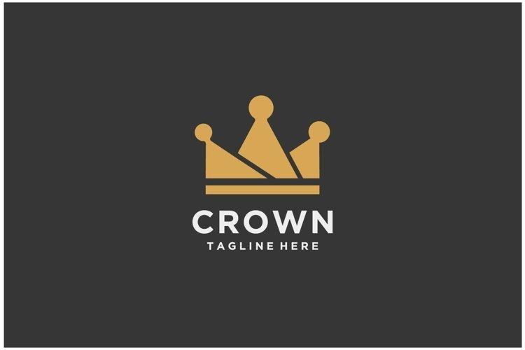 Crown royal king queen gold vintage logo design example image 1