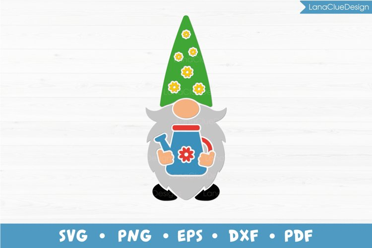 Garden Gnome SVG, Gnome with Watering Can, Gardener