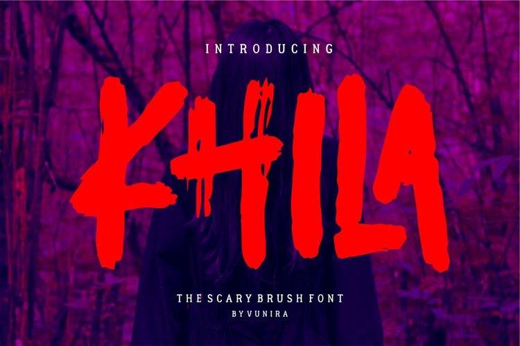 Khila | The Scary Brush Font example image 1