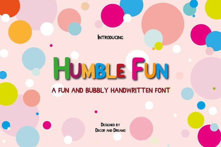 Humble Fun - Handwritten font