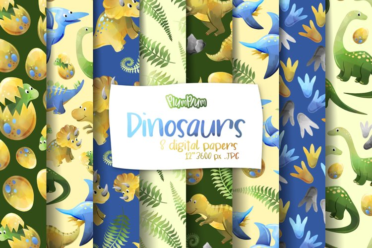 Dinosaurs Digital Papers example image 1