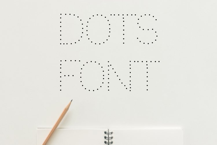 Dots Display Font example image 1