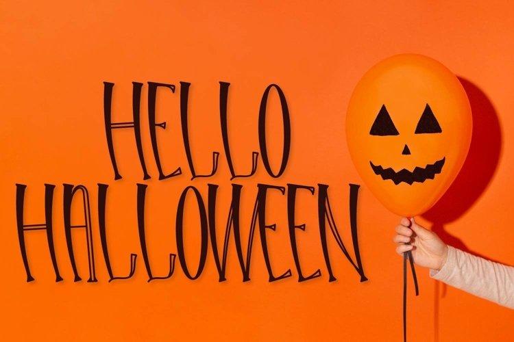 Web Font Hello Halloween - A Spooky Font example image 1