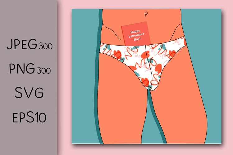 Valentine's day greeting card design. Erotic congratulations example image 1