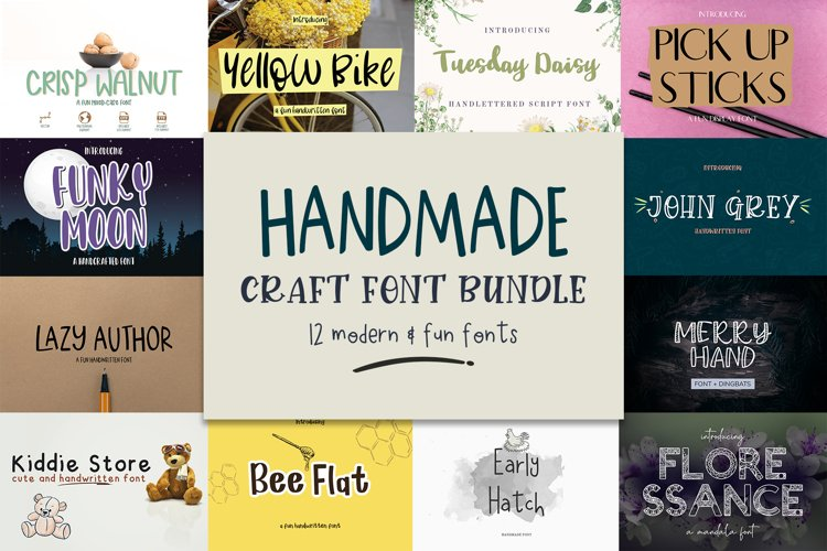 Handmade Craft Font Bundle example image 1