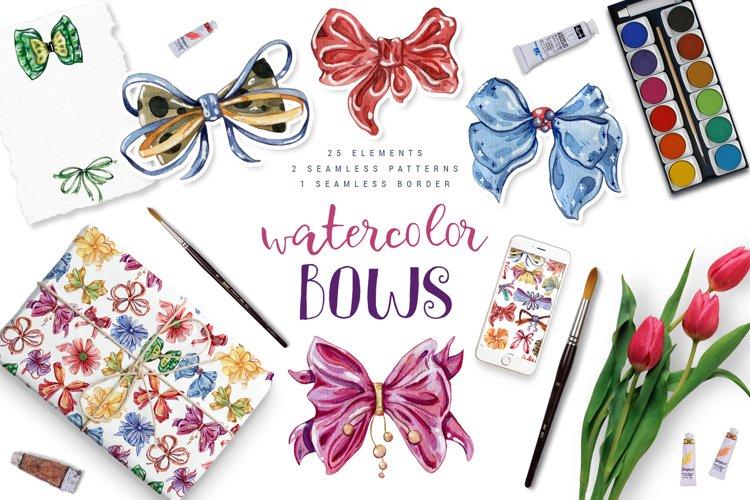 Watercolor bows