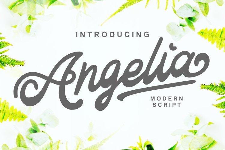 Angelia - Modern Script example image 1