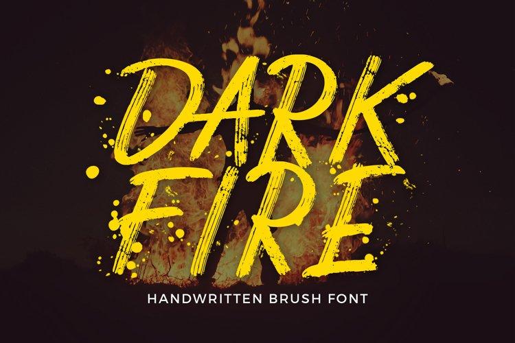 Dark Fire Brush Font example image 1