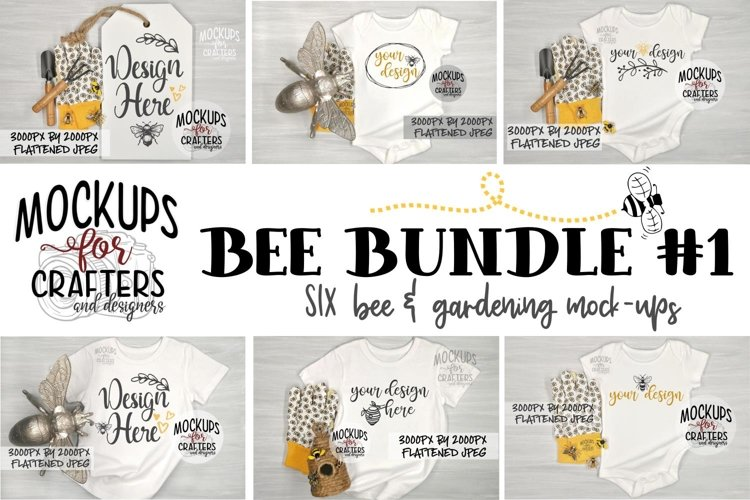 BEE BUNDLE #1 - SIX MOCK-UPS