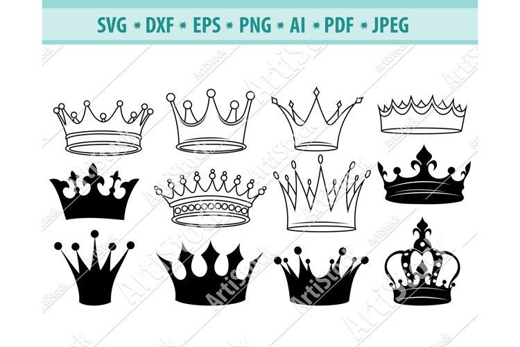 Crown SVG , Tiara Svg, King CrownSVG, Power Dxf, Png, Eps
