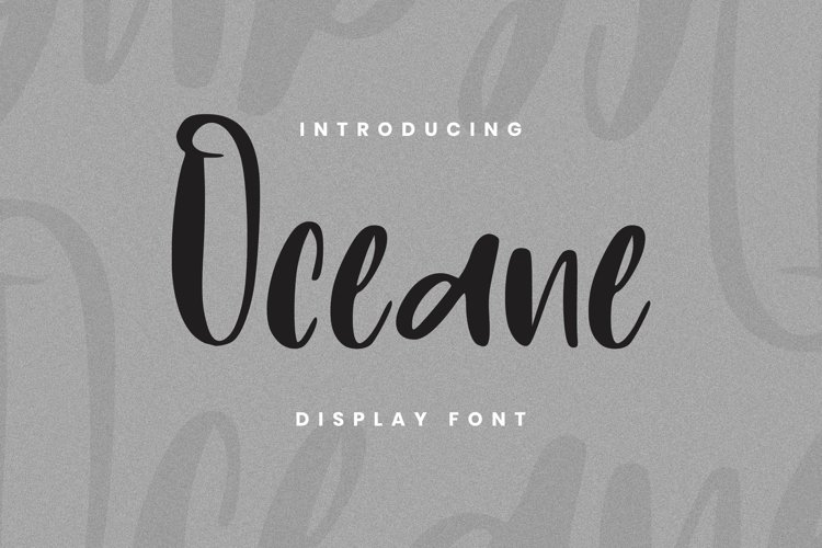 Web Font Oceane Font example image 1
