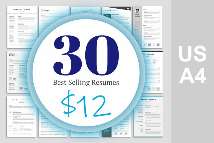 Best selling resume bundle | Teachers resume | 1 Page and 2