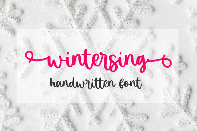 Wintersing - Lovely Font example image 1