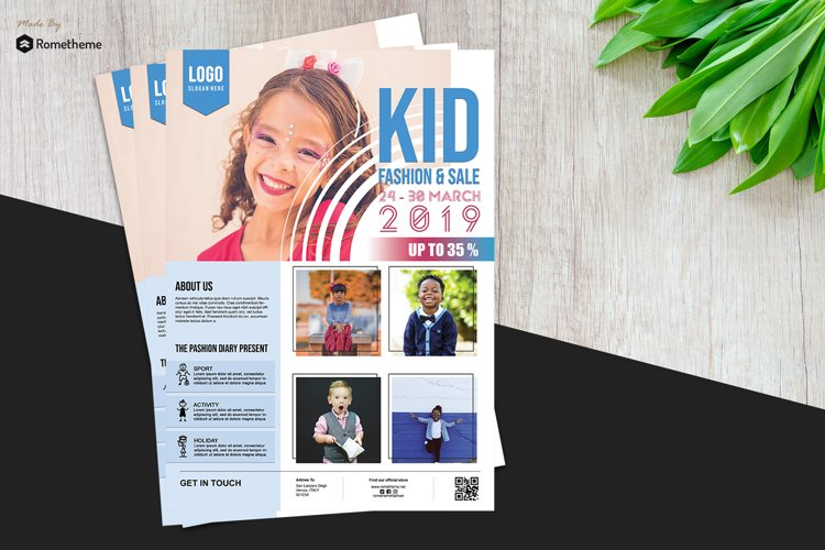 Kid Fashion Flyer vol.01 example image 1