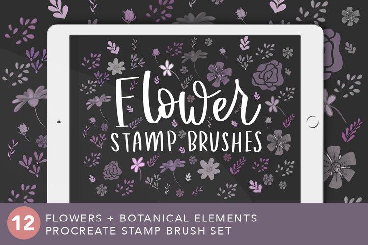 Flower Stamp Brush Set for Procreate