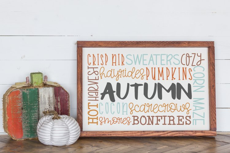 Fall Autumn Sign Halloween Autumn Subway Art Svg 310574 Cut Files Design Bundles