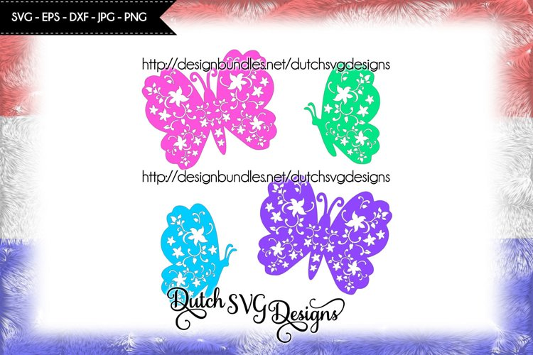 2 Butterfly cutting files / butterfly svg