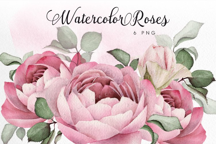 Watercolor roses example image 1
