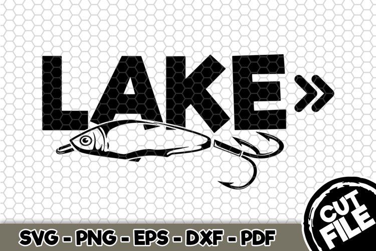 Lake - SVG Cut File n228 example image 1
