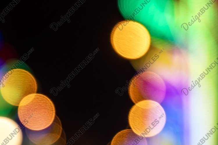 abstract background of blurred warm lights example image 1