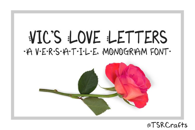 Monogram font - Vic's Love Letters example image 1
