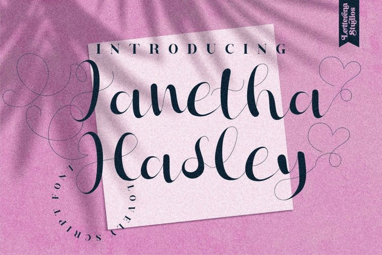 Janetha Hasley - Beautiful Lovely Script Font example image 1