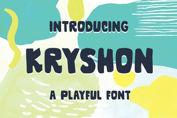 Kryshon - A Playful Font example image 1